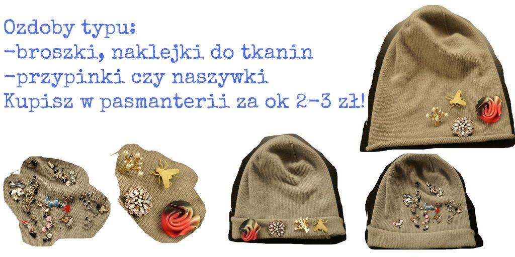 sposoby na dekorowanie czapki