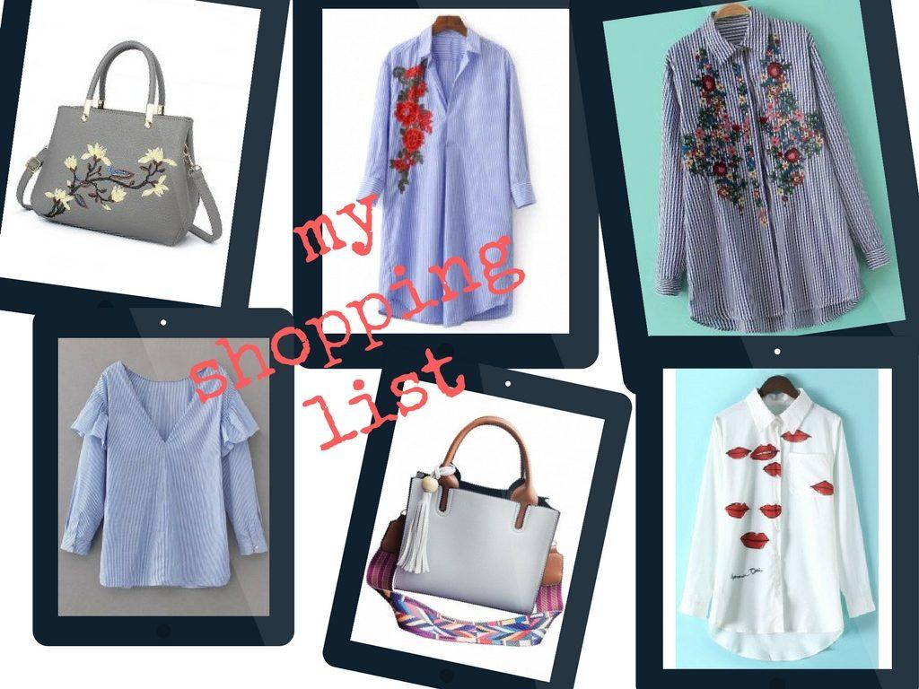 ubrania z zaful lista zakupow z zaful