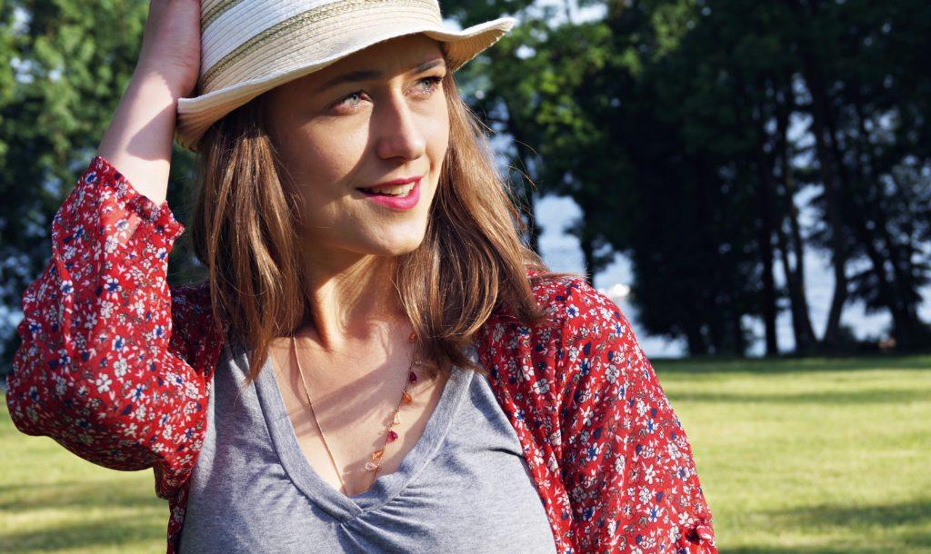 czerwca sukienka maxy, kapelusz, letnia stylizacja blogerek,