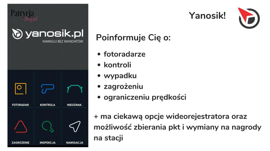 yanosik, apki dla kierowców, aplikacje dla klierowców