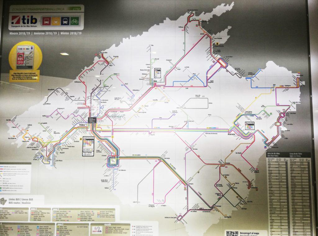 mapa majorka, transport, palma, majorka, transport, praktyczne wskazówki majorka