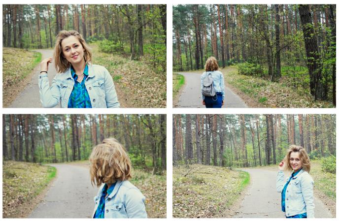 stylizacja niebieska jeans i jeansowa kurtka