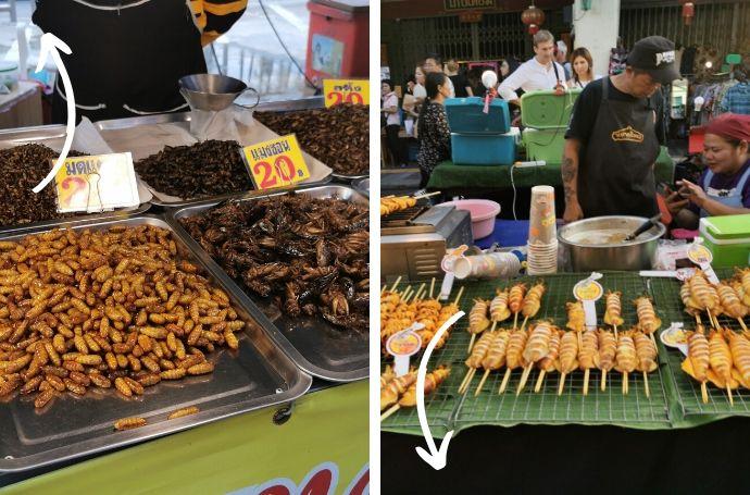 tajlandia jedzenie robaki