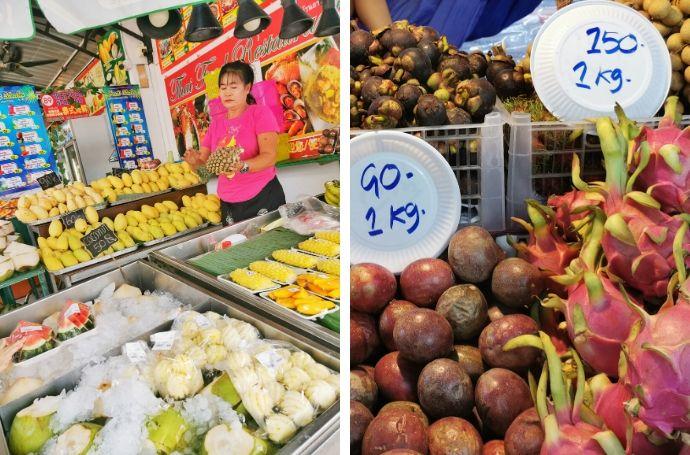 tajlandia phuket owoce i jedzenie
