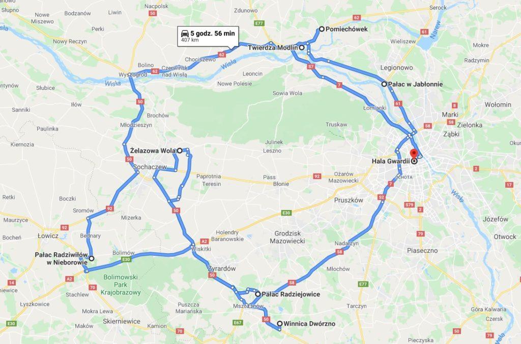weekendowe wycieczki wokół Warszawy