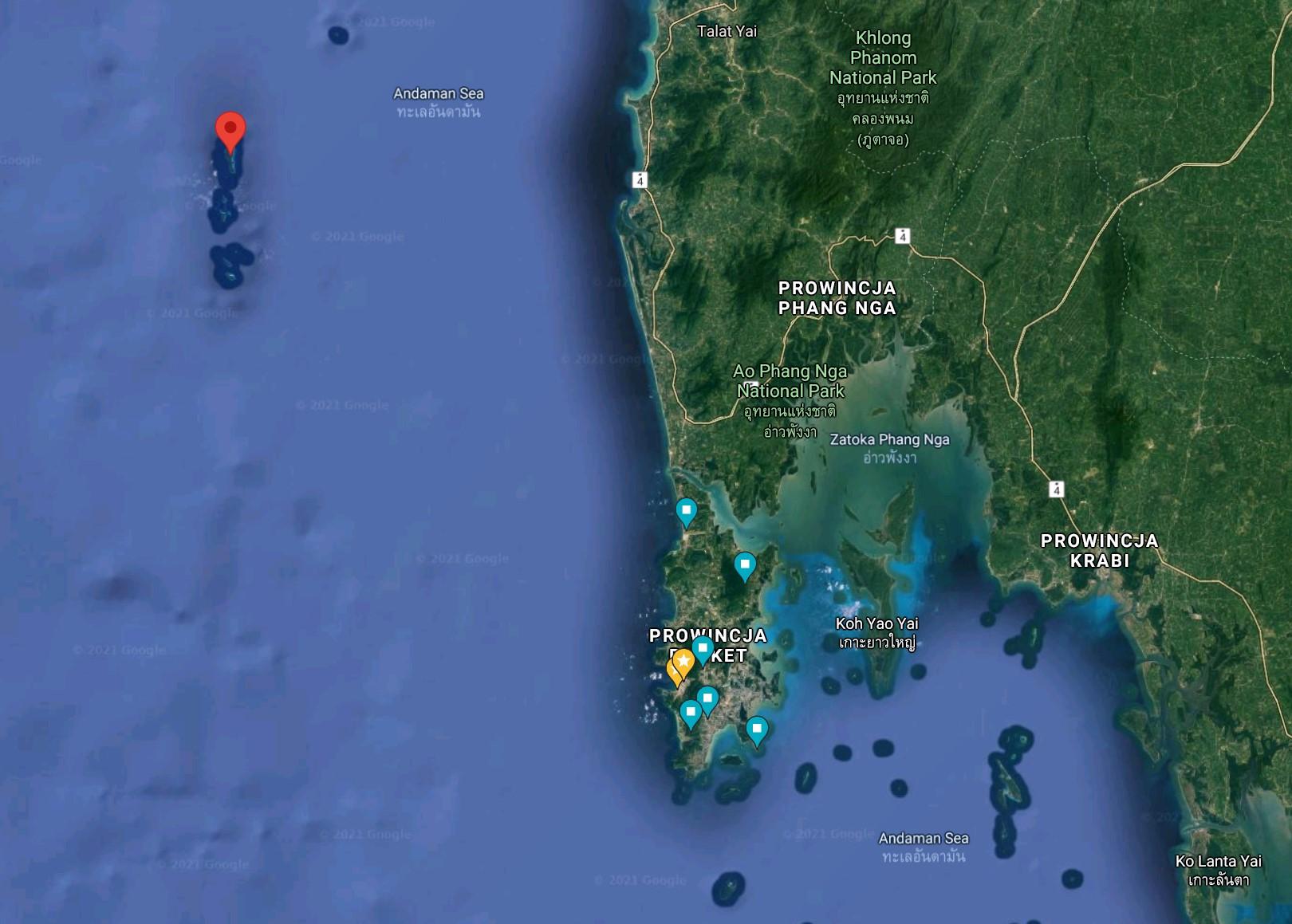 Similian islands - gdzie leżą wyspy
